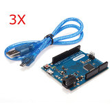 3Pcs Leonardo R3 ATmega32U4 Development Board With USB Cable For Arduino