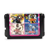 4 in 1 16 Bit Game Cartridges Classic TV Game for SEGA MD2 Game Console KC412 Combination Card