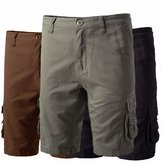 ChArmkpR Big Mens Cotton Shorts Casual Multi Pockets Loose Cargo Shorts Plus Size 30-46