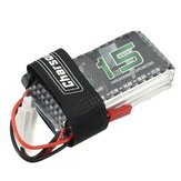 Charsoon 7.4V 1500mAh 50C 2S Lipo Battery JST Plug With Strap