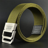 Original 130CM Mens Canvas Double Loop Belt Outdoor Climbing Simple Military Tactical Nylon Belts