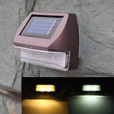 0.2W Wall-mounted Solar Powr 2 LED Fence Light Garden Landscape Waterproof Wall Lamp
