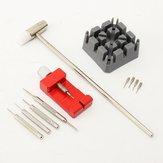 11PCs Watch Strap Holder Link Pin Remover Hammer Spring Bar Pins Repair Tool Kit