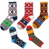 Harajuku Ethnic RetroStyle Tube Socks Geometrical Element Fashion Cute Cotton Soft Socks
