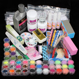 China Wholesale  42 Acrylic Powder Brush Glitter Clipper File Nail Set