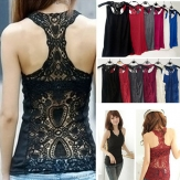 China Wholesale Zanzea® Hollow Out Sexy Lace Tank Top