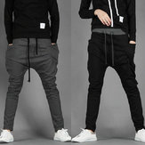 China Wholesale Men's Fashion Casual Skinny Taper Slacks Harem Pants 2 Color