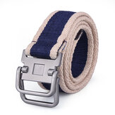 Unisex Double Loop Stainless Steel Buckles Belts
