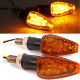 2x 15 LED Motorcycle Motorbike Turn Signal Indicators Light Lama E11