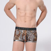 Mens Sexy Tiger Printing Boxers Comfortable Casual Underwear Fashion Underpants