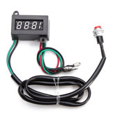 Motorcycle DC Adjustable Time Electronic Panel Meter 0.4inch LED Clock