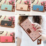 Women Fashion Long Purse Lovely Wallet Painted Bags