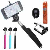 Selfie Monopod Handheld Holder With Bluetooth Remote Control Shutter