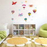 Hot Air Balloon Planes Cloud Sky DIY Wall Sticker Home Decal Kids Room Decor