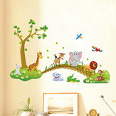 DIY Tree Cartoon Elephant lion Removable Decal Home Decor Wall Sticker Wallpaper