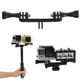 Double Sport Camera Holder Handle Grip Monopod Mount Adapter For Gopro Xiaomi Yi SJcam