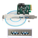 2-port PCI Express to USB 3.1 Adapter Expansion Card For PC Desktop