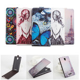 Colored Drawing Up Down Flip Leather Case For Xiaomi Redmi Note 2