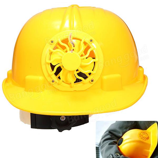 Solar Powered Safety Helmet Hard Ventilate