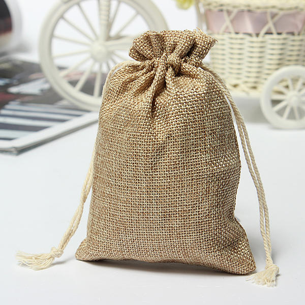 Burlap Wedding Favor Bags Wholesale : Wholesale Faux Burlap Hessian Mini Bags Rustic Wedding Favor Gift Bag