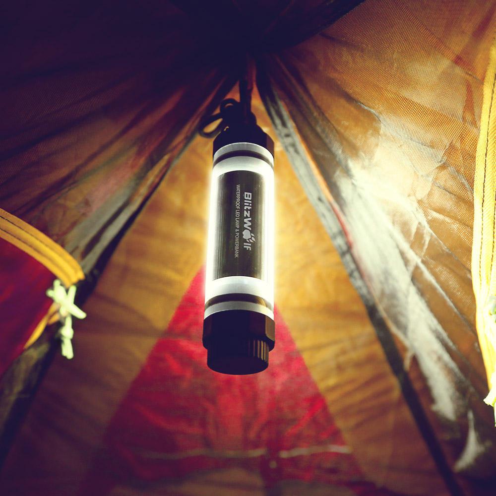 BlitzWolf® BW-LT5 IP68 Waterproof LED Lamp Light 2600mAh Powerbank Emergency Camping Light