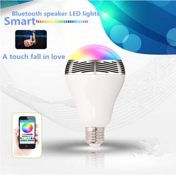 BL05 Bluetooth V4.0 Timing LED Bulb Music Audio Speaker For iPhone