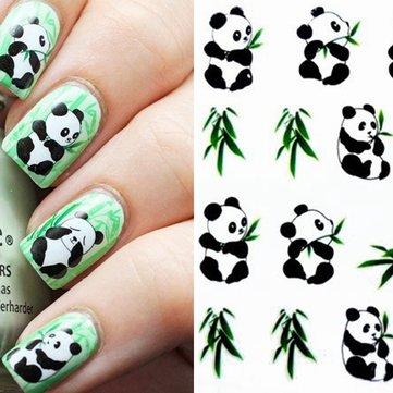 Panda pegatina patrón de agua de