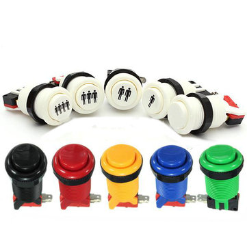 Arcade Push Button Durable Long Switch Multicolor