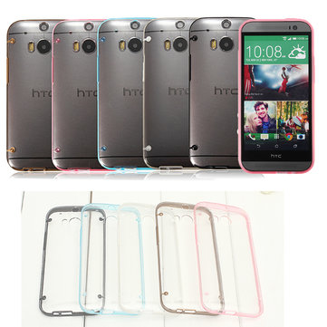 Ultra Thin Clear Luminous Glow TPU Case Cover For HTC One M8