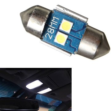 Festoon 28mm 3030 2SMD LED Car Reading Light Roof Lamp 10w Constant Current Canbus Free