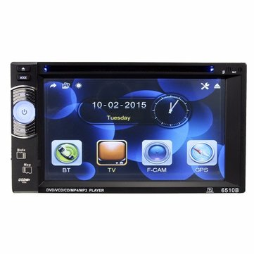HD 6.2 Inch Touch Screen Double 2DIN Car GPS Stereo DVD Player Bluetooth Radio+Remote