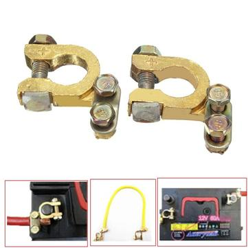 Universal Replacement Auto Car Battery Terminal Clamp Clips Brass Connector