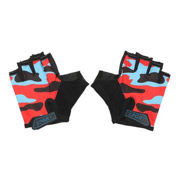 Medium Finger GlovesKids Half Soft Finger Gloves For Racing 4-10 Years Children