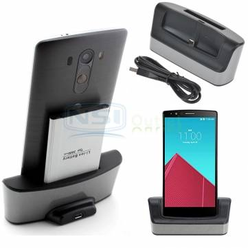 Desktop Charging Cradle Dock Station Stand With Spare Battery Charger Support For LG G4