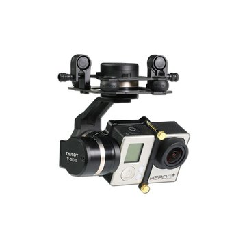 Tarot GOPRO 3DⅢ Metal CNC 3 Axis Brushless Gimbal PTZ for GOPRO 4 3+ 3 FPV Quadcopter TL3T01