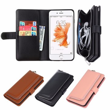 Removable PU Leather Wallet Case Magnetic Flip Card Slots Cover for 4.7 Inch iPhone 6 6s