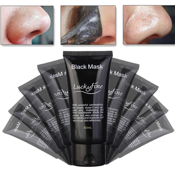 Luckyfine Deep Cleansing Blackhead Peel-off Removal Black Mask Smoothes Skin Purifying