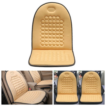 Car Seat Cushion Therapy Massage Cover Padded Bubble Foam Chair Seat Pad Beige