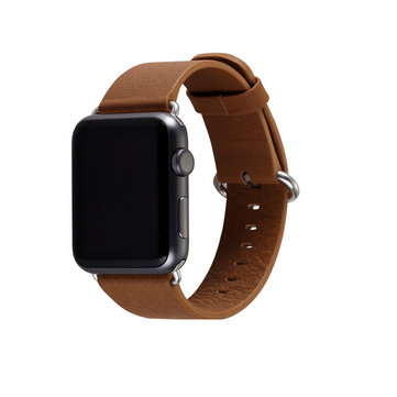 38mm PU Leather Wrist Watchband Watch Strap With Stainless Steel Buckle For Apple Watch