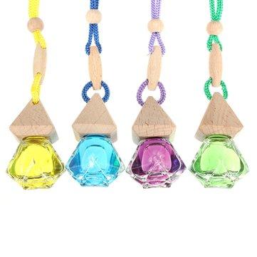 Diamond-Shaped Glass Car Perfume Ornaments Automotive Supply Peach Flavor