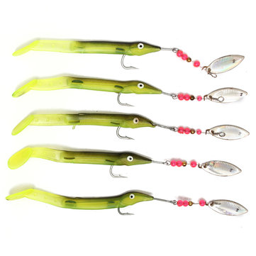 5pcs/lot spinner bait fishing lures fishing tackle spoons lure, Soft Baits