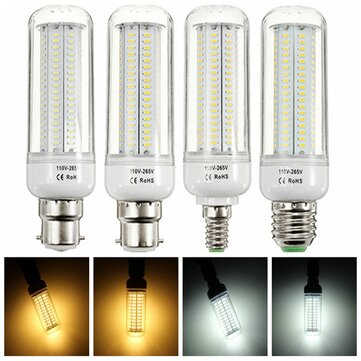 E27 E14 B22 16W 200 SMD 2835 Pure White Warm White  LED Corn Light Bulb AC 110-265V