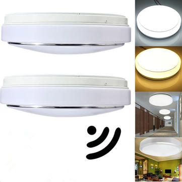 Ceiling Motion Light: 15W PIR Motion Sensor 30 LED Ceiling Light Body Automatic Light Switch AC  220V,Lighting
