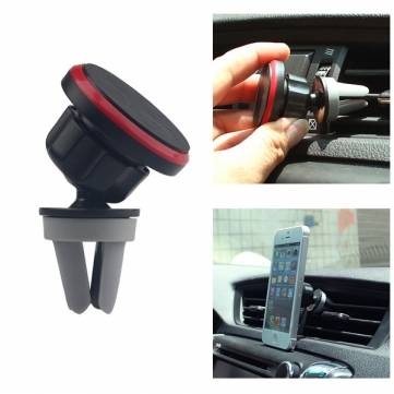 Magnetic Car Mini Air Vent Outlet Mount Phone Holder For iphone Samsung 360 Rotation