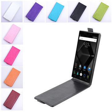 Flip Up And Down PU Leather Protective Case For DOOGEE F5