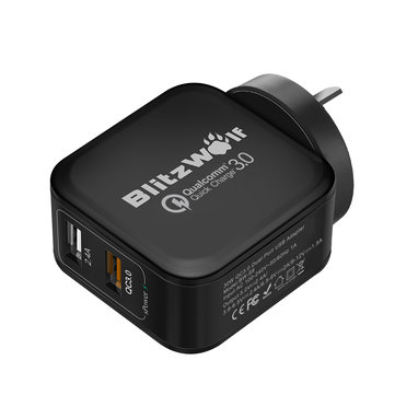 BlitzWolf BW-S6 Quick Charge 3.0+2.4A 30W Charger AU Adapter With Power3S Tech