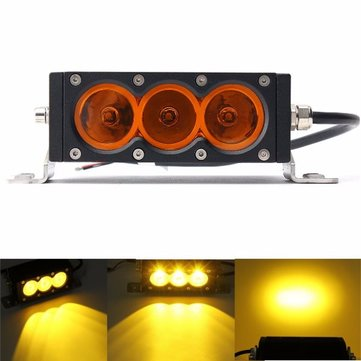 6inch 30W Spot Beam Amber Lens LED Light Bar For 4X4 Offroad SUV