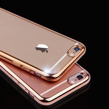 ために iPhone 7スリムクリアメッキソフトTPUシリコン保護携帯電話ケースカバー