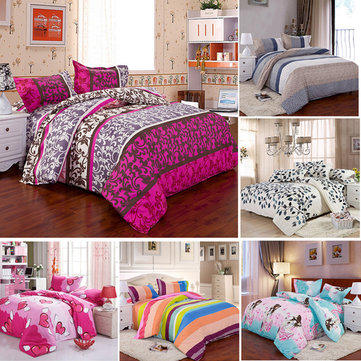 3 Or 4pcs Cotton Blend Mix Patterns Paint Printing Bedding Sets Twin Full Queen Size