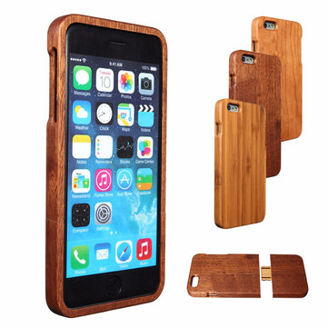 Wooden Wood Back Cover Bamboo Protective Hard Case Skin Shell For Apple iPhone 6/6S Plus 5.5 inch